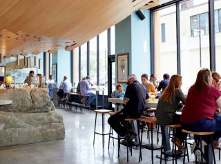 Guests dine at Eventide, a James Beard Award-winning seafood concept in Maine.