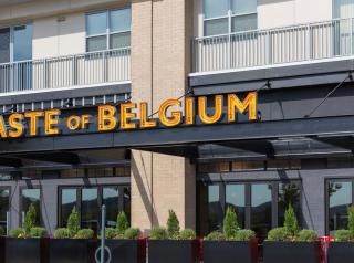 Taste of Belgium restaurant.