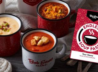 Bob Evans soups are joined by the Endless Soup Pass, which is available for just $15.