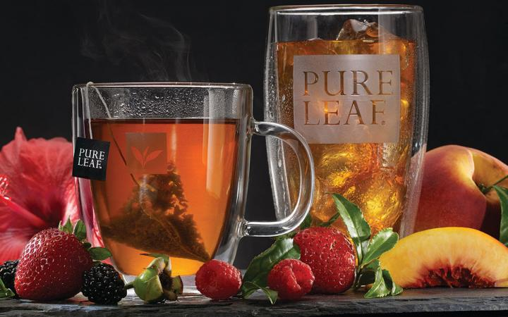 Unilever's Pure Leaf iced is poured in a glass.