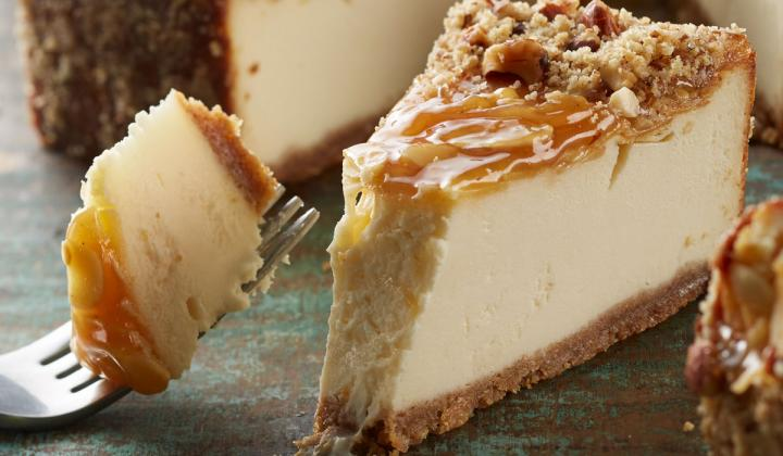 Devonshire Premium Cheesecake Topped with Honey and Almonds