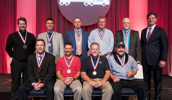 FDA's 2019 Truck Driving Champions pictured with Mark S. Allen, president and CEO of IFDA (far right).