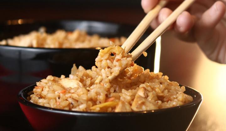 "A bowl of  ""RA""ckin' Fried Rice at RA Sushi restaurant."