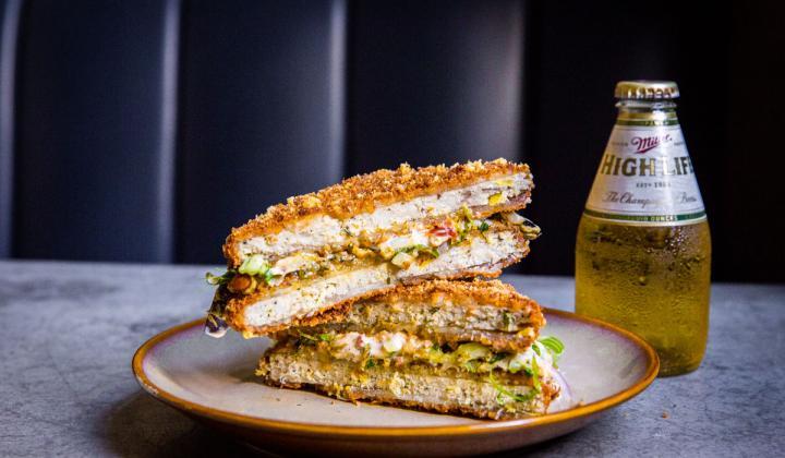 Sandwich at Longway Tavern.