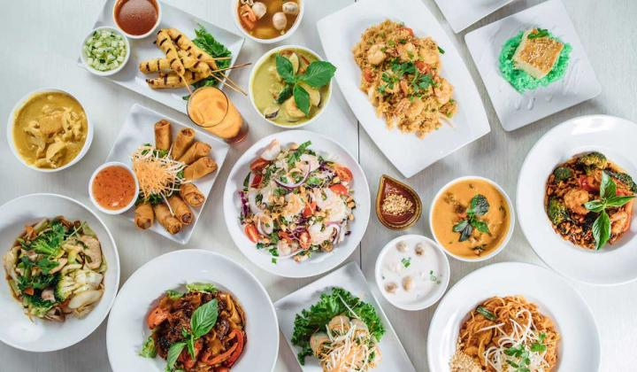 Spread of dishes from Asian Mint