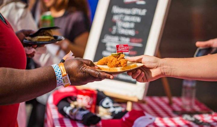 Plate of Hattie B's chicken at Taste of Atlanta