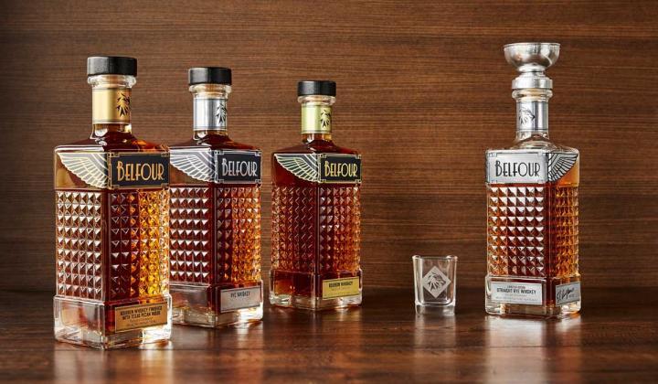 4 bottles of Belfour Spirits