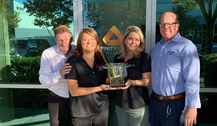 Members of Affinity Elite Associates, Inc. accept Blount Foods' 'Relentless Pursuit of Excellence' Award