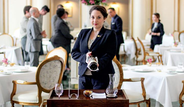 At the French room in Dallas, sommelier Leslie Hartman recommends low-sugar wines as pre-dinner Aperitifs.