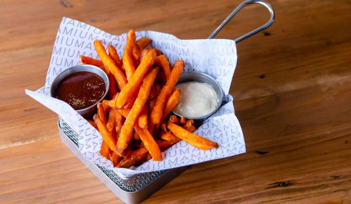 Sweet potato fries at Umami Burger restaurant.