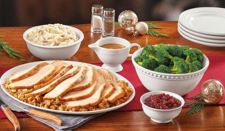 Denny's Turkey & Dressing Dinner Pack.
