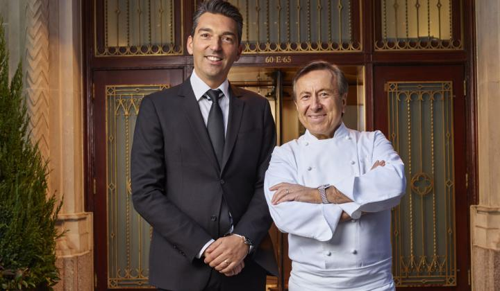 Sebastien Silvestri (left) is the new Chief Executive Officer of Chef Daniel Boulud's award-winning restaurant group, The Dinex Group.
