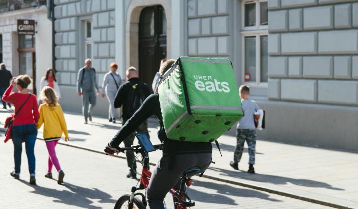 UberEats delivery bike.