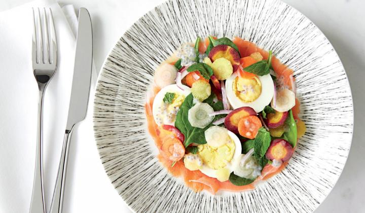 Crate & Barrel's light and bright home furnishings pair perfectly with the herbaceous, fresh menu at the brand's new full-service restaurant.