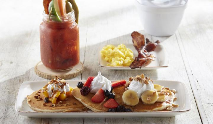 Breakfast platter at Another Broken Egg Café.
