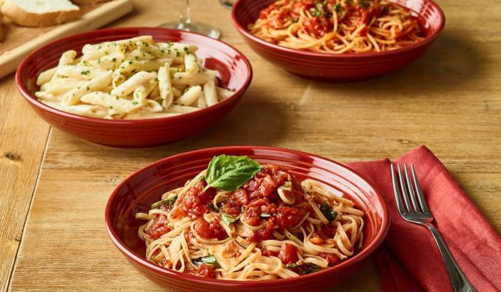 Spaghetti dishes at Carrabba's Italian Grill.