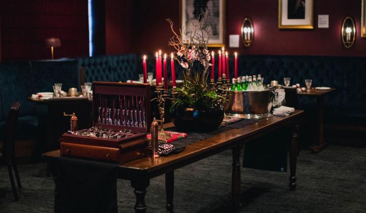 Inside The Dark Room restaurant.