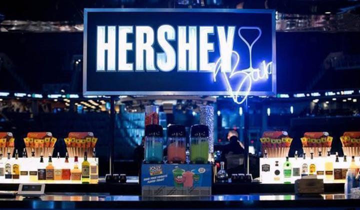 Hershey Bar sign.