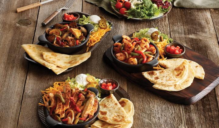 Fajitas at Ruby Tuesday.
