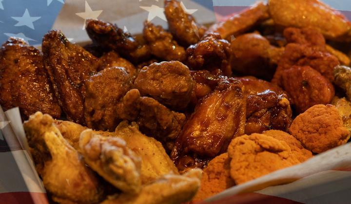 Buffalo Wild Wings' plate of wings.