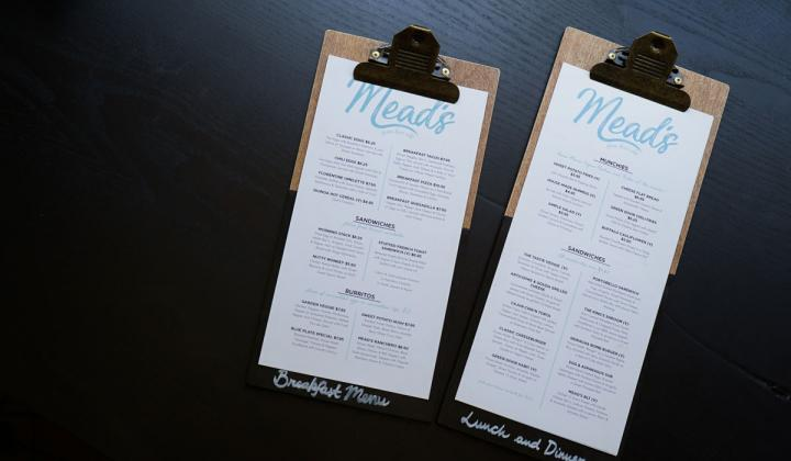 Two menus side by side at a restaurant.