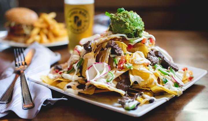 Pedal Haus Brewery nachos.