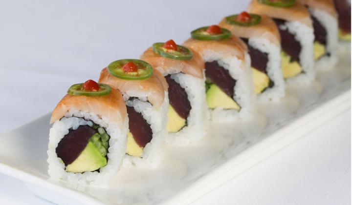 Sushi roll at LoLa restaurant.
