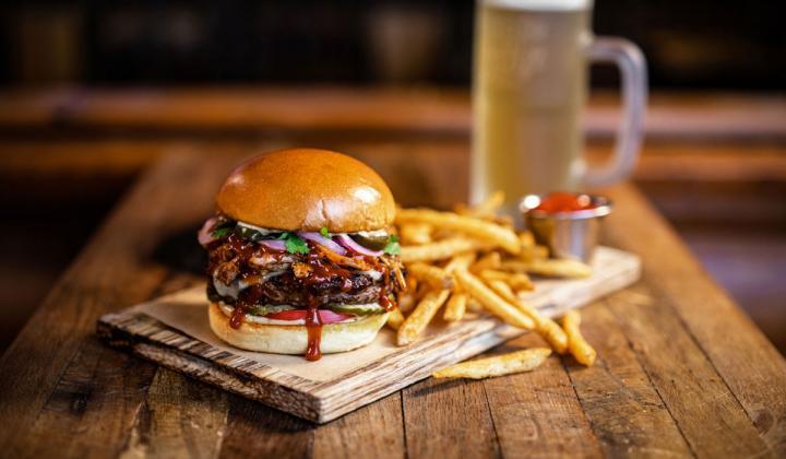 Twin Peaks Smokestack burger.