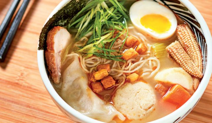 Shalom Japan serves, among other fusion dishes, a Matzoh Ball Ramen.