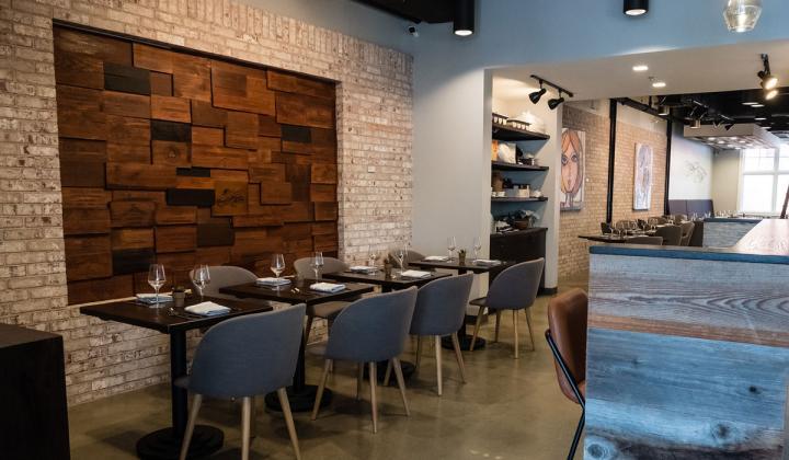 Interior of Blend 111 restaurant.