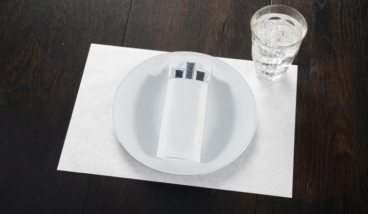 White plate on a dark background.
