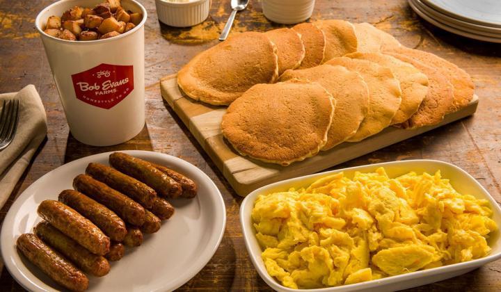 Bob Evans platter of food.
