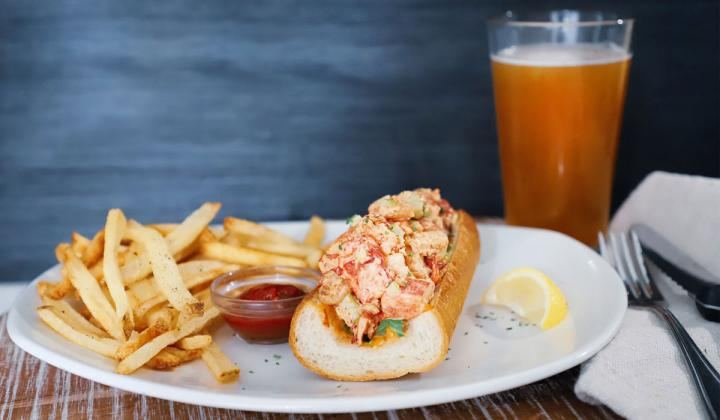Bonefish Grill Lobster and Shrimp Roll.