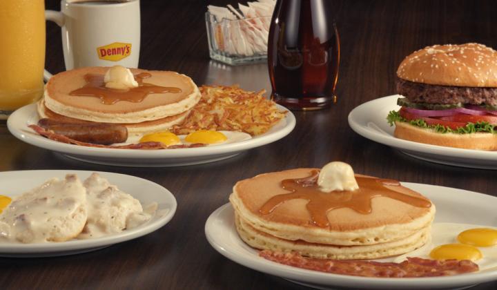 Denny's platter of food.