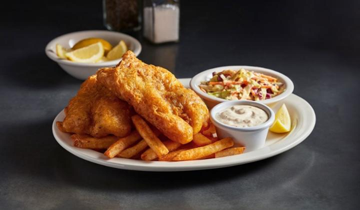 Metro Diner fish fry.