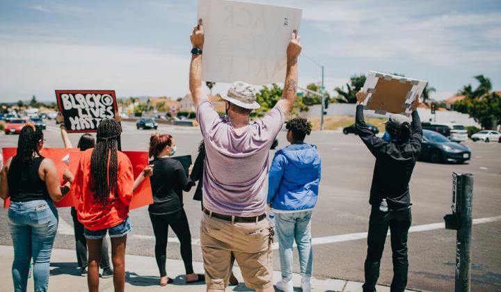 Protests in California.