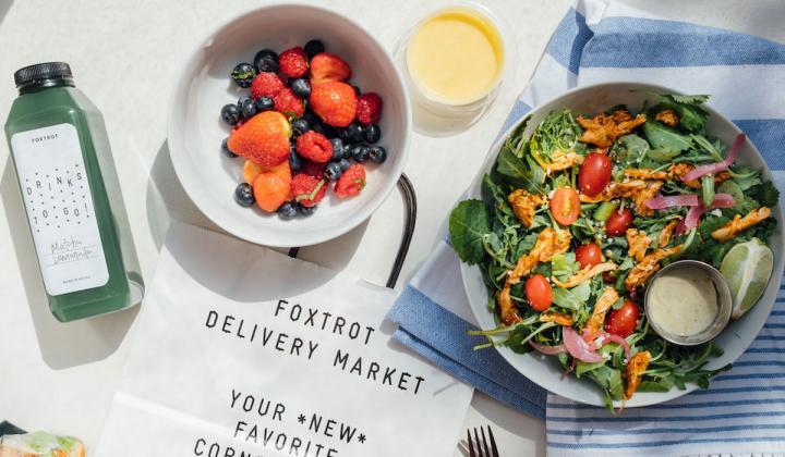 Foxtrot Market plates of food.