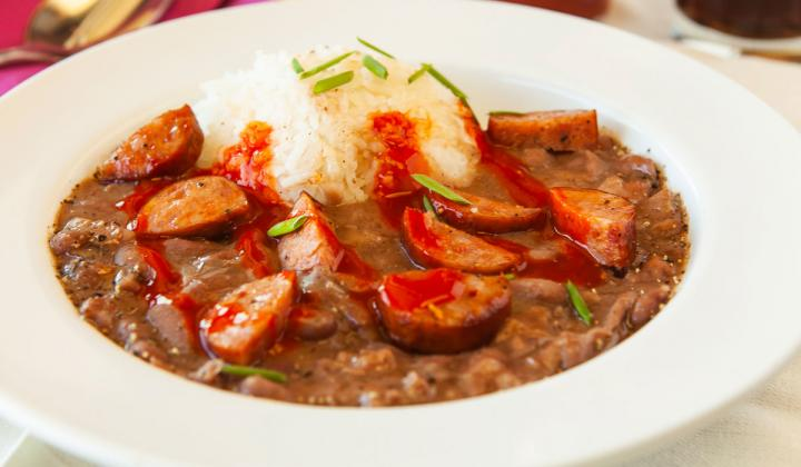 VooDoo Daddy's Steam Kitchen red beans and rice.