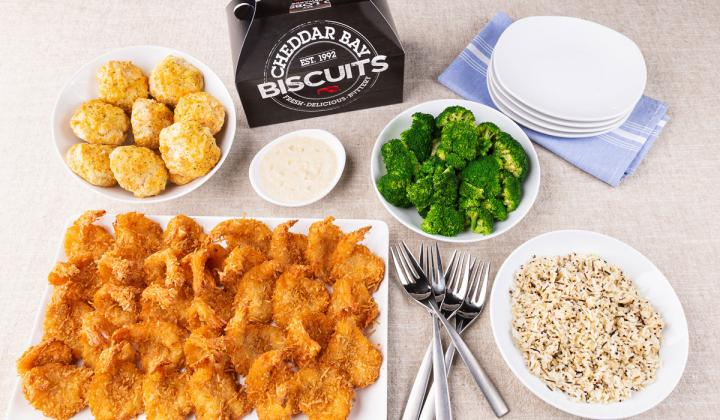 Red Lobster to-go family meal.
