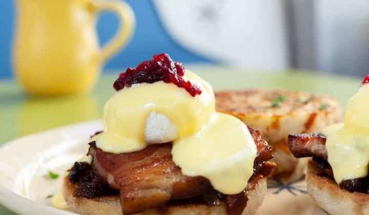 Snooze, an A.M. Eatery bacon dish.