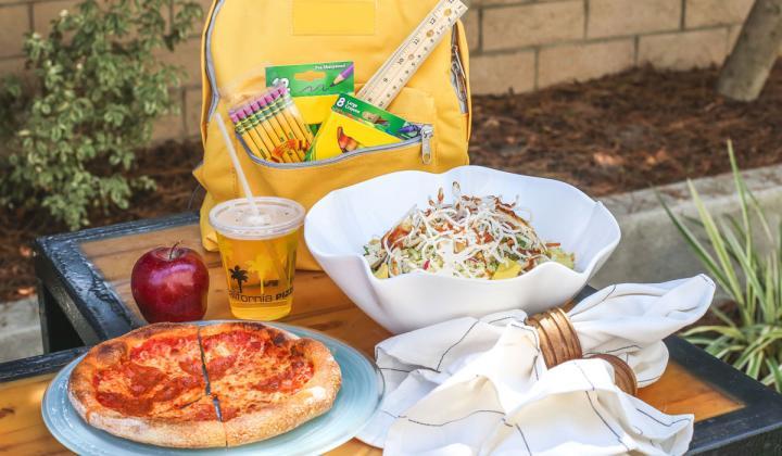 California Pizza Kitchen's back to school specials.