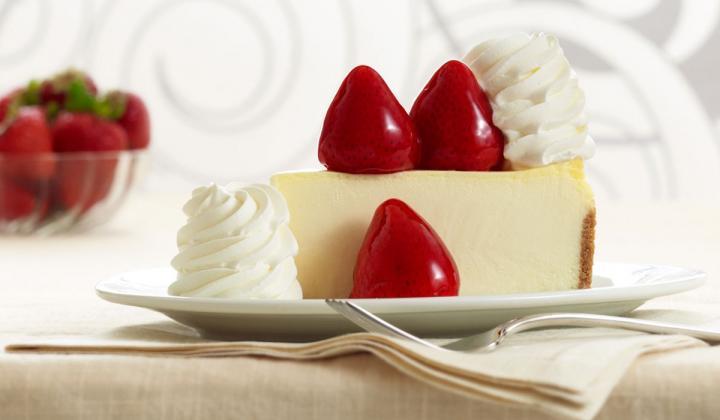 The Cheesecake Factory cheesecake dessert.