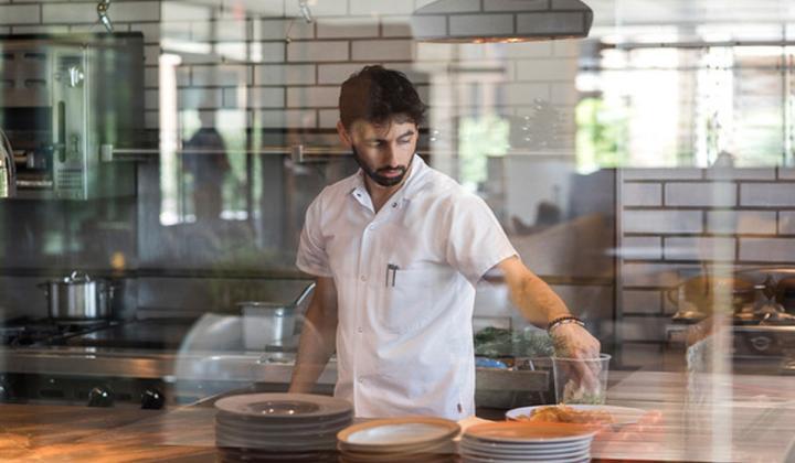 River House at Odette's Chef Adam Sheff,