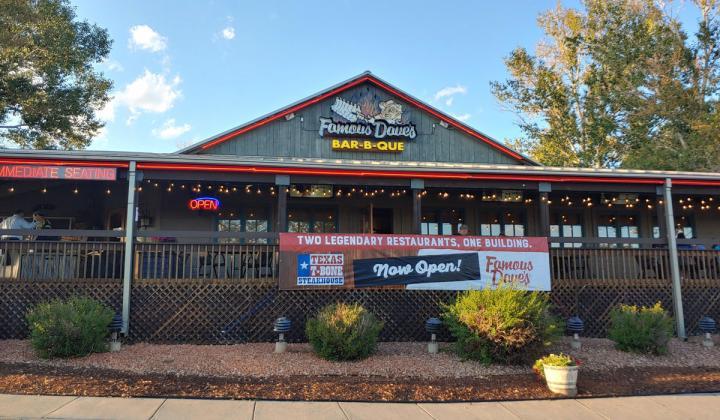 Famous Dave's Dual-Branded Texas T-Bone Steakhouse Restaurant.