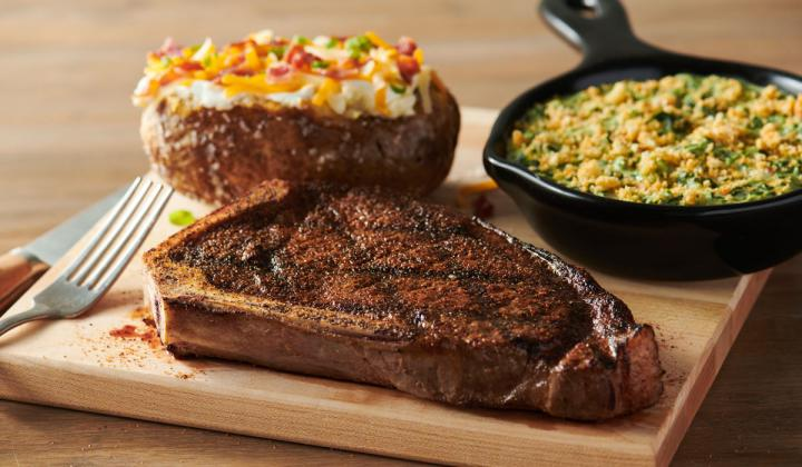 Outback Steakhouse New York Strip steak.