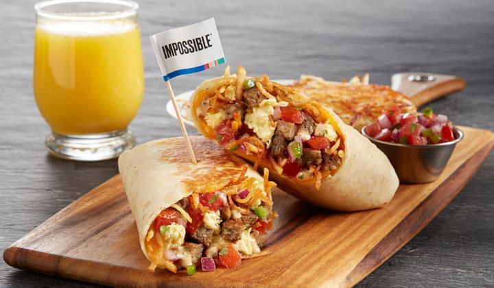 Impossible Breakfast Burrito.
