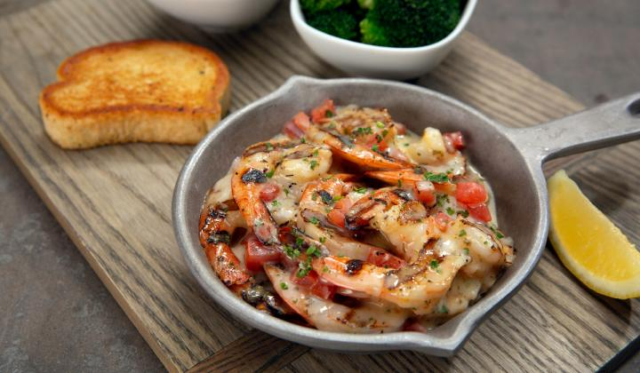 Fire Grilled Shrimp.