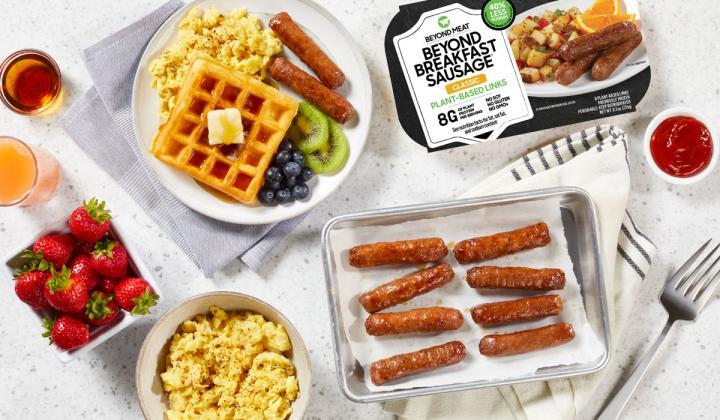Beyond Meat breakfast sausage links.