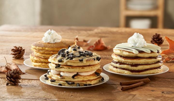 IHOP seasonal pancakes.
