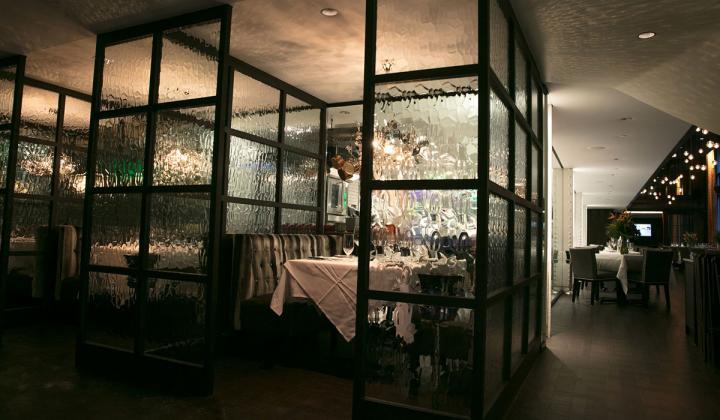 Steak 48 interior of restaurant.